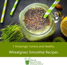7 Amazingly Yummy and Healthy Wheatgrass Smoothie Recipes Best Smoothie Recipes, Yummy Smoothies, Shake Recipes, Smoothie Diet, Juice Recipes, Workout Smoothie, Detox Smoothies, Nutribullet Recipes, Easy Healthy Recipes
