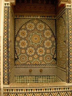moroccan tile tub