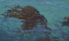 Mandy Lake, Dancing Kelp, oil on canvas, 2016 Lake Painting, Oil On Canvas, Dancing, Paintings, Art, Art Background, Dance, Paint, Painting Art