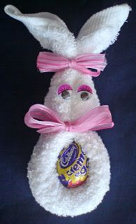 Craft and Other Activities for the Elderly: Face-Cloth Easter Bunny!