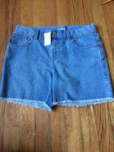 The Children's Place Girls Frayed Light Wash Denim Jean Shorts Size 14 | eBay