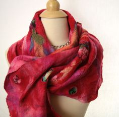 Merino 3D Nuno Felted Scarf by SuzannesHandmade on Etsy, $79.00