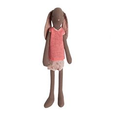 Maileg Bunny - Maxi Dark Brown Girl (also medium dark brown, medium light beige, boys) Maileg Bunny, Ecole Art, Brown Girl, Fabric Dolls, Fine Motor Skills, Danish Design, Kids Decor, Pyjamas, Playing Dress Up