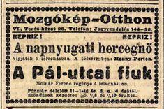 A PÁL-UTCAI FIÚK (1917) Theatre, Ads, Street, Theatres, Walkway, Theater