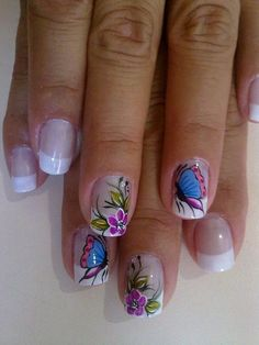 Classic Style Nail Arts By Classic Nail Polish Fingernail Polish Designs, Toe Nail Designs, Toe Nail Art, Toe Nails, Butterfly Nail, Flower Nail Art, Beautiful Nail Designs, Beautiful Nail Art, Classic Nails