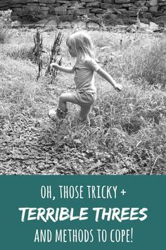 From The Trenches: The Terrible Threes -- different ways my almost 3-year-old has been challenging us lately -- Can you relate?! // writing chapter three