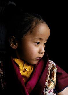 Ogyen Tendzin Jigme Lhundrup, the incarnation of the great Tibetan master Dilgo Khyentse Rinpoche (1910-1991). Shechen Monastery, Nepal, 1997 ~ photograph by Matthieu Ricard