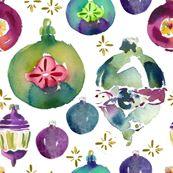 cestlaviv_very vintage ornaments by cest_la_viv, Spoonflower digitally printed fabric