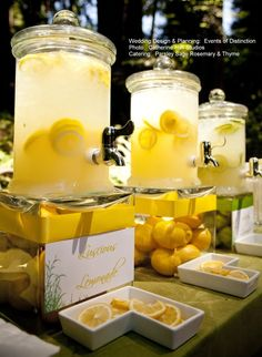 Yellow Beverage Station  http://www.eventsofdistinction.com