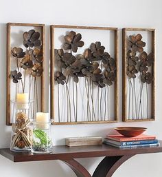 Bring nature indoors with our open-backed Metal Flowers Art that will delicately pop from any wall surface.