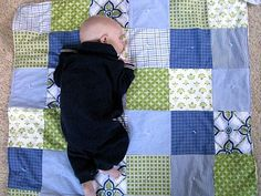 daddy's old shirts become a quilt for baby or make a keepsake quilt from grandma's old dresses or grandpa's old shirts