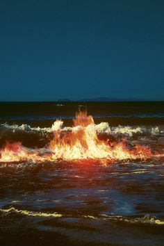 Pinterest: Forgotten Stories || Fire in the waves