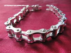 316L Stainless Steel Motorcycle Chain Bracelet for Men 10.5mm Wide