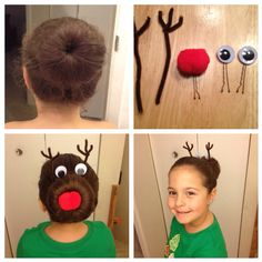 Rudolph bun! originally pinned here on pinterest...and I gave it a shot today! love it!