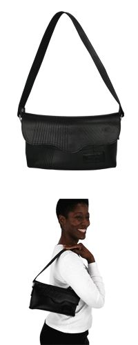 'Recycled Tire Tube Handbag' - Druce at The Animal Rescue Site