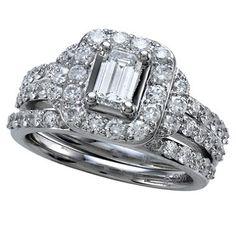 2.00 ct. t.w. Emerald Cut Diamond Bridal Ring Set in 14K White Gold (IGI Appraisal Value: $4,110)
