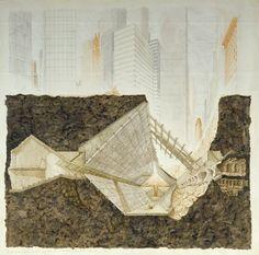 Gaetano Pesce (Italian, born 1939), Church of Solitude, project, New York (Manhattan), New York, Transverse section, 1974-77