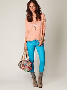 Turquoise jeans - Free People