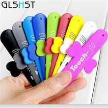 GLSHST 270 Degree rotate Finger Colorful Phone Holder Car POP Smartphone Stand For iPhone/Samsung /Xiaomi/Huawei All Smart Phone(China)