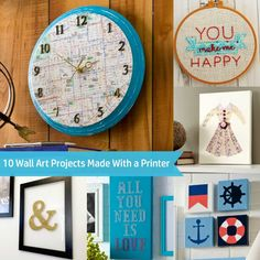 10 wall art projects made with a printer - such easy ideas!