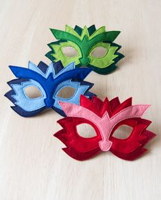 Colourful dress up dragon masks for kids.  #accessory #costume #kids #halloween #play #toy