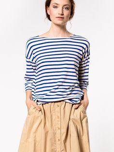 Bellerose Velia Stripe T-Shirt   Maze Clothing