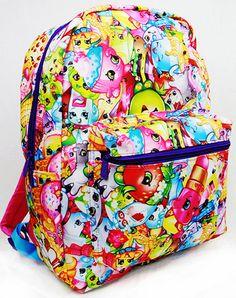 "Shopkins 16"" Backpack U.S.A. School Large Book Bag #Shopkins"