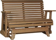 LuxCraft Rollback Recycled Plastic 4ft. Patio Glider - Antique Mahogany. FREE SHIPPING.