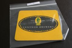2002 Beermat Ventnor Brewery (Isle of Wight) Cat 001 (1R25) 7/14