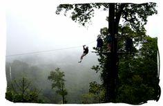 Zip-line - Costa Rica - AHHH!!