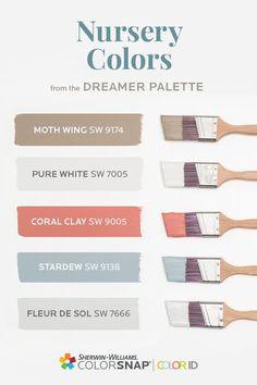 Nursery Paint Colors, Blue Paint Colors, Paint Colors For Home, Nursery Neutral, Nursery Design, Wall Colors, House Colors, Neutral Paint, Gray Paint