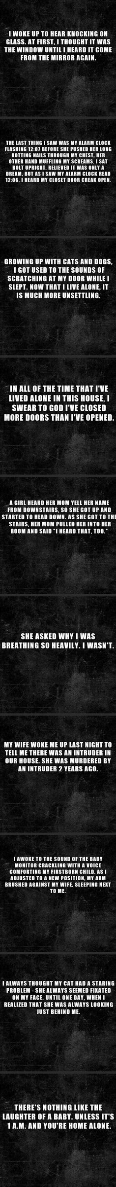 10 two sentence horror stories... Holy crap some of these made my brain go into imagination overdrive!