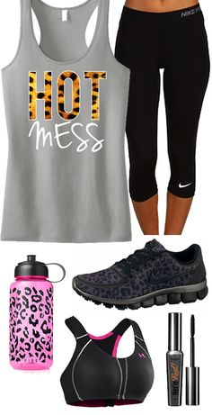 Cool Leopard #Gym Gear Theme. HOT MESS Leopard Grey #WorkoutTank Women's by #NobullWomanApparel, $24.99 on Etsy. Click below to buy