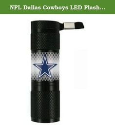 NFL Dallas Cowboys LED Flashlight, Small. Need a light? Try the Team ProMark LED flashlight, featuring your NFL team's logo on the handle. It's made with 9 super-bright LED bulbs that will illuminate the surrounding area for up to 100,000 hours. It's water resistant and comes with an attached lanyard for easy carrying. The flashlight requires 3 AAA batteries (not included). Officially licensed by the NFL, this durable LED Flashlight features full color graphics. Team ProMark offers...