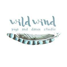 Watercolor Logo Design Premade Logo Design Yoga by foxhousestudio