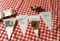 Een werkblad om vlaggetjes met de kinderen te maken voor dankdag en verschillende ideeën hoe je deze vlaggetjes kunt gebruiken.