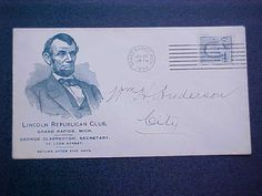 Envelope from Lincoln Republican Club - 1894