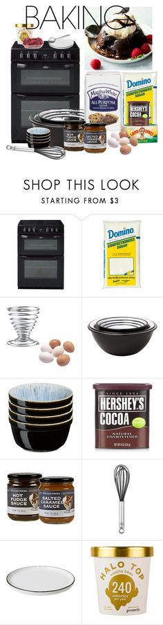 """""""Let's Get Baking! 11/15/17"""" by aly-mgc ❤ liked on Polyvore featuring interior, interiors, interior design, home, home decor, interior decorating, Falcon Enamelware, Denby, Hershey's and Williams-Sonoma"""