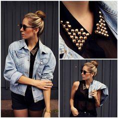 Studded blouse (by Herz über Kopf)