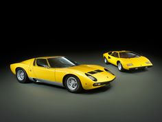 Lamborghini Miura and Countach Not in Yellow Though. Please Make mine Blue and Red. Lamborghini Miura, 70s Cars, Ferrari Car, Car In The World, Maserati, Sport Cars, Cars And Motorcycles, Luxury Cars, Vintage Cars