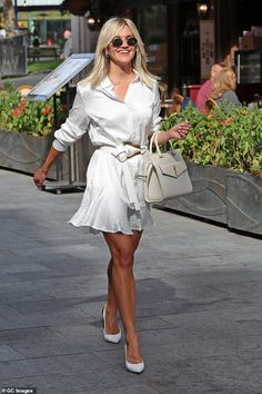 Ashley Roberts, Pussycat Dolls, Amanda Holden, No Frills, Shirt Dress, Silk, Chic, Shirts, Clothes