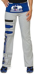Star Wars R2-D2 Girls Yoga Pants.  Yes, I would wear these (although not to exercise in!)