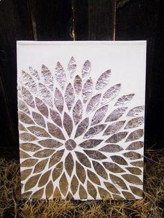 Top 10 Ideas for Shiny Aluminum Foil Crafts - Top Inspired Diy Arts & Crafts : Diy Foil Art - Step By Step Instructions - Fun Easy Art Work! Diy Canvas Art, Diy Wall Art, Canvas Ideas, Wall Decor, Canvas Crafts, Painting Canvas, Diy Arts And Crafts, Crafts To Do, Aluminum Foil Crafts