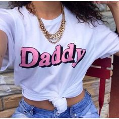 Daddy Tshirt, daddy tee, Shirt with sayings Funny TShirt Tumblr T... ($13) ❤ liked on Polyvore featuring tops, t-shirts, screenprinted t shirts, graphic design t shirts, checkered shirt, graphic tees and checked shirt