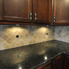 Tile Backsplash Ideas backsplash idea with black countertops | remodeling | pinterest