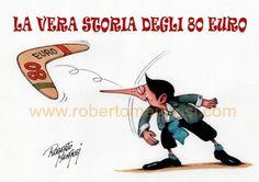 80 euro: andata...e ritorno #IoSeguoItalianComics #Satira #Politica #Humor #Comics #Italy #Renzi #crisis #80euro