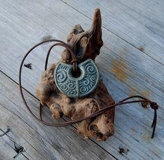 Earth Spirals Carved Pendant by DreamingDragonDesign.deviantart.com on @deviantART
