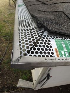 Spring Cleaning: cleaning out the rain gutters