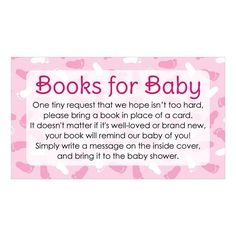 Girl Baby Shower - Books for Baby Request Cards (Set of 20)-Distinctivs