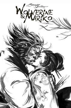 Wolverine & Mariko- Eduardo Francisco